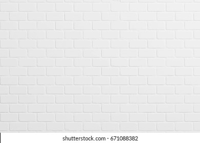 White painted brick wall  background, vector illustration