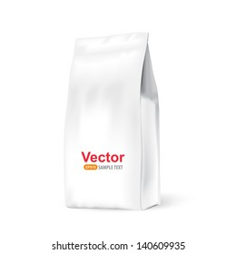 White paper bag for bulk products, tea, coffee, spices. Package prezantation your products.