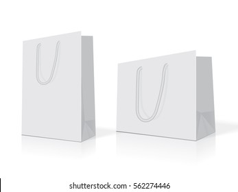 white paper bag for your design EPS10 Vector Mock up easy to change color