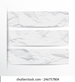 White Paper Banners Set of Eps