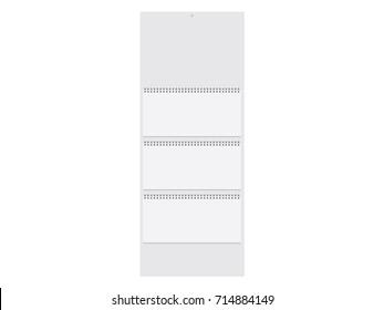 A  white paper calendar. Mock Up Vector Template