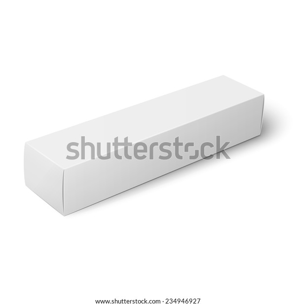 White Paper Cardboard Box Template Toothpaste Stock Vector Royalty Free 234946927