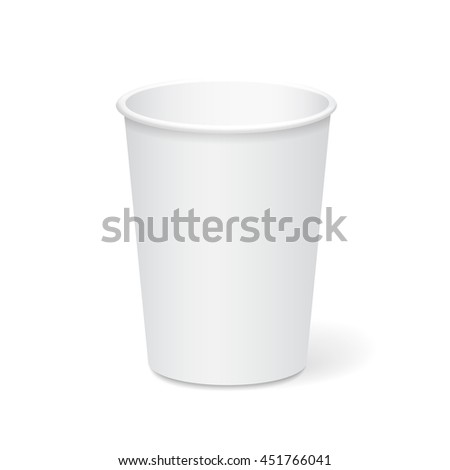 White Paper Cup Template Coffee Tea Stock Vector Royalty Free
