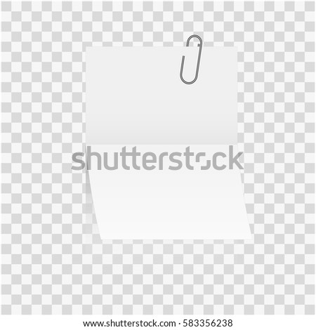 White Paper Note Blank Frame Stick Stock Vector (Royalty Free ...