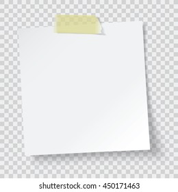 white paper reminder, vector