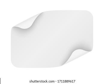 White paper sheet. Vector illustration.
