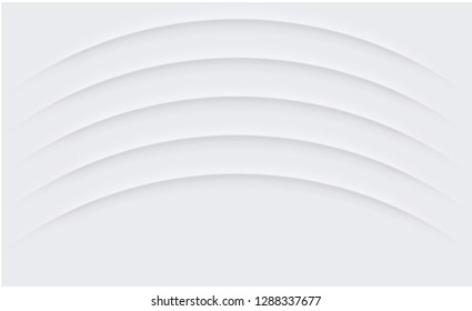 White paper template with rounded slits or pattern. Vector background.