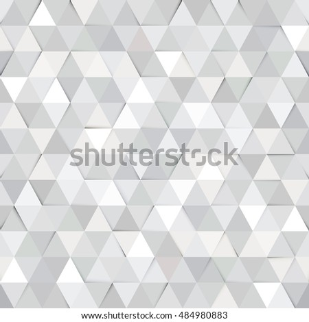 White Paper Texture Seamless Background Geometric Gray Triangle Mosaic Pattern Corporate Business Or