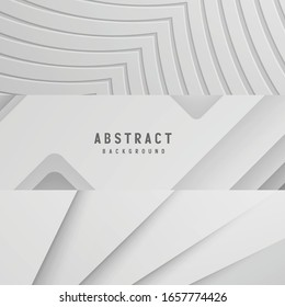 White paper topography relief. Abstract paper cut background. Realistic papercut decoration textured with wavy layers. Carving art. Vector 3d illustration. Material design concept. Template for design