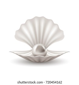 White pearl in shell