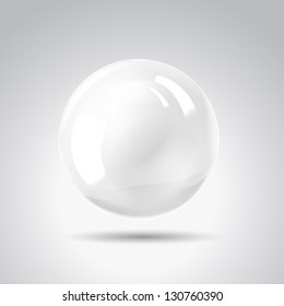 White pearl. Vector illustration, contains transparencies, gradients and effects.