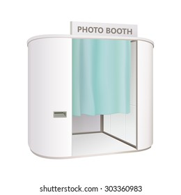 white photo booth