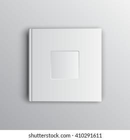 White photobook mock up