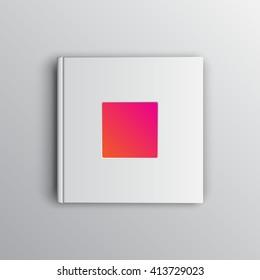 White photobook mockup, place your photo