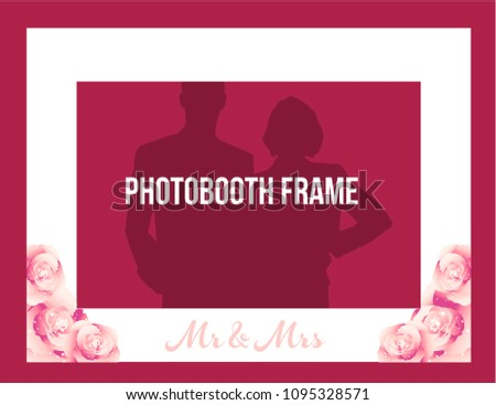 White Photobooth Wedding Frame Mr Mrs Stock Vector Royalty Free