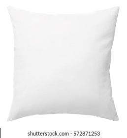 White pillow, Isolated on white background. Vector EPS-10