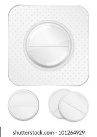 pills blister pack images stock photos vectors shutterstock vs Blue Pill Red Pill white pills vector eps10 illustration