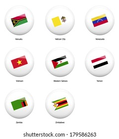 Countries Containing The Letter Z.Similar Images Stock Photos Vectors Of White Pin Badges