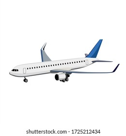 White Plane Vector Illustration Design