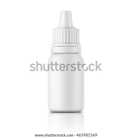Bottle Template | White Plastic Bottle Template Medical Cosmetic Stock Vektorgrafik