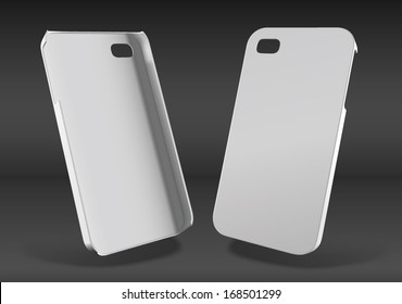 White plastic case mock-up for smartphone