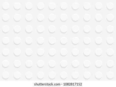White plastic construction plate seamless pattern