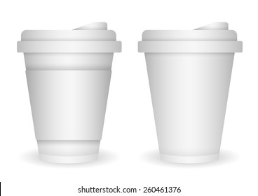 white plastic cup for branding item