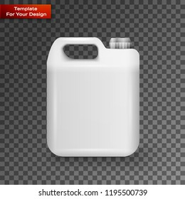 White Plastic Jerrycan Oil, Cleanser, Detergent