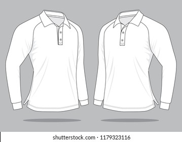 White Polo Shirt for Template : Perspective view