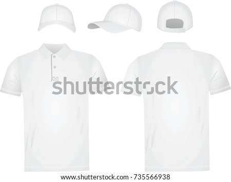 171fed8dc White Polo T Shirt Baseball Cap Stock Vector (Royalty Free ...
