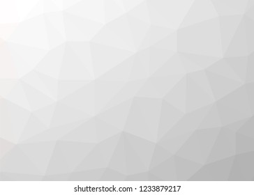 white polygon abstract mosaic pattern background, vector low poly design