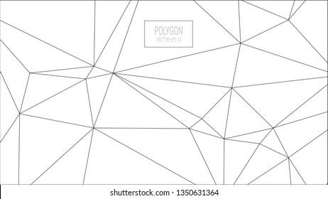 White Polygon Background
