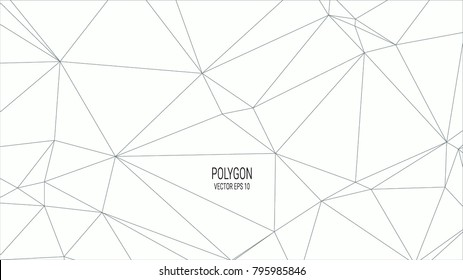 white polygon background
