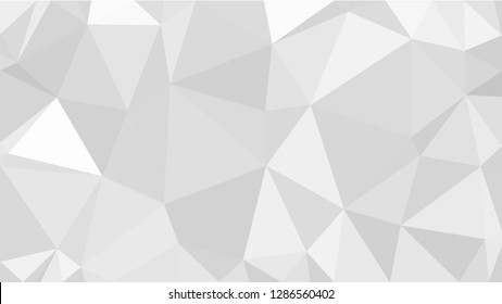 White Polygonal Mosaic Background, Low Poly Style, Vector illustration, Business Design Templates