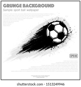 White poster with soccer ball movement and grunge path