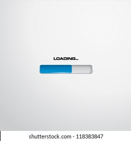 White progress or loading bar
