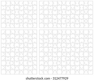 White puzzle, vector illustration