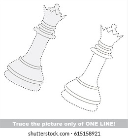 Sport theme drawing kids connecting dottodot stock vector 532326223 white queen chess dot to dot educational game for kids altavistaventures Image collections