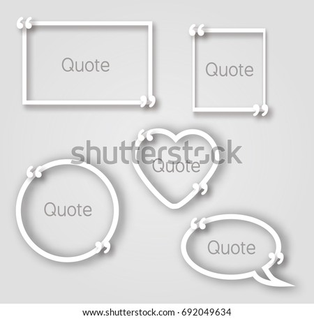 white quote bubble paper frames realistic stock vector royalty free