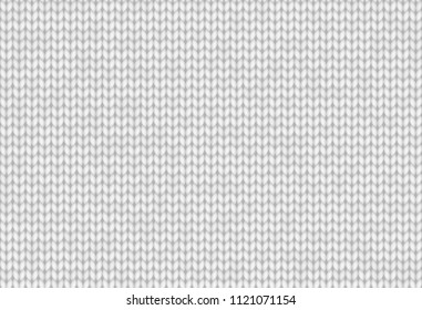White realistic knitted texture. Seamless pattern