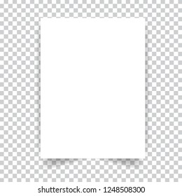 White realistic paper page. Vector illustration .