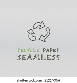 White recycle paper seamless texture. Vector pattern
