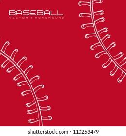 white and red baseball background. vector illustration
