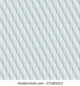 A white reptile skin textured background. Seamlessly Repeatable. Eps 10 Vector.
