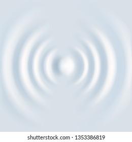 White ripple circle wave