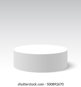 White round box. Package. Vector illustration.