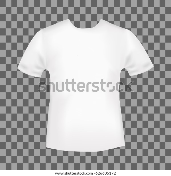 White Round Neck Tshirt Template Blank Stock Vector Royalty Free