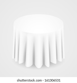 White Round Tablecloth Images Stock Photos Vectors Shutterstock