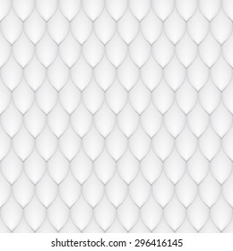 the white scales of a snake, fish, dragon, or other animal, seamless texture