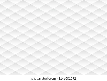 White seamless abstract retro pattern of geometric shapes texture background. 3d paper art style can be used in cover design poster and website backgrounds or advertising.